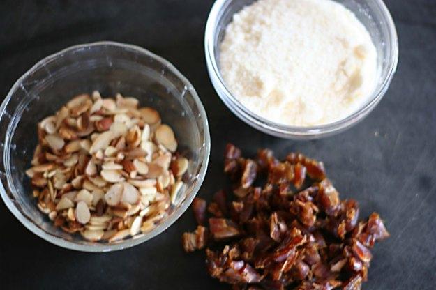 Dates almonds parmesan