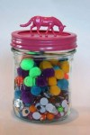 Horse curio jar